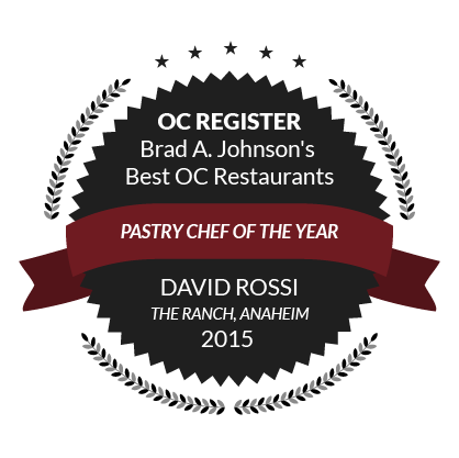 OC Register Brad A. Johnson's Best OC Restaurants, Pastry Chef of The Year, David Rossi, 2015