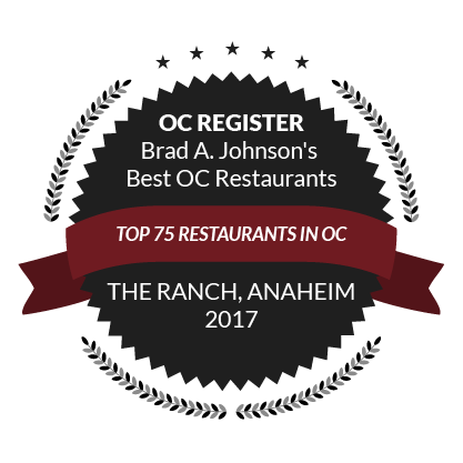 OC Register Brad A. Johnson's Best OC Restaurants, Top 75 Restaurants in OC, 2017