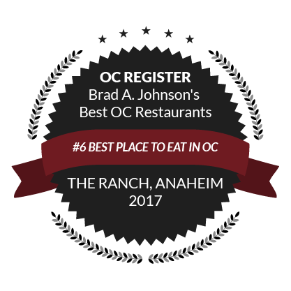 OC Register Brad A. Johnson's Best OC Restaurants, #6 Best Place to Eat in OC, 2017