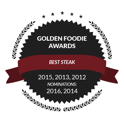 Golden Foodie Awards, Best Steak: 2015, 2013, 2012, Nominations: 2016, 2014