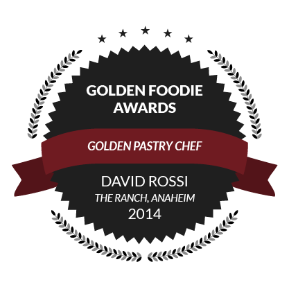 Golden Foodie Awards, Golden Pastry Chef, David Rossi, 2014
