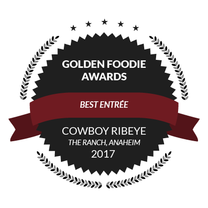 Golden Foodie Awards, Best Entree, Cowboy Ribeye, 2017