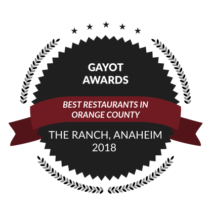 Gayot Awards, Best Restaurants in Orange County, 2018