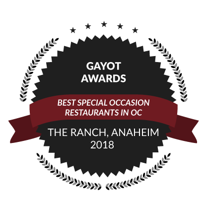 Gayot Awards, Best Special Occasion Restaurants in OC, 2018