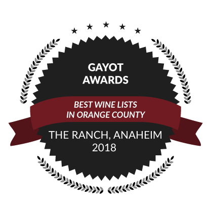 Gayot Awards, Best Wine Lists in Orange County, 2018