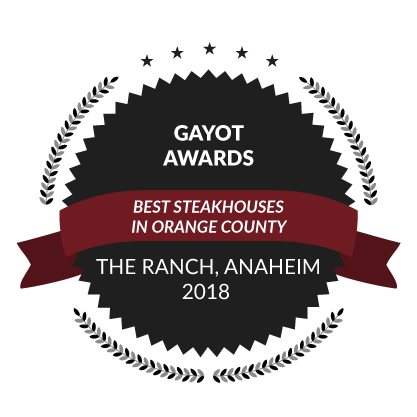 Gayot Awards, Best Steakhouses in Orange County, 2018