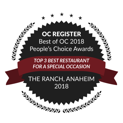 OC Register Best of OC 2018 People's Choice Awards, Top 3 Best Restaurant for a Special Occasion