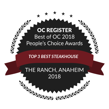 OC Register Best of OC 2018 People's Choice Awards, Top 3 Best Steakhouse, 2018