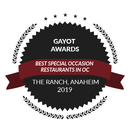 Gayot Awards, Best Special Occasion Restaurants in Orange County, 2019