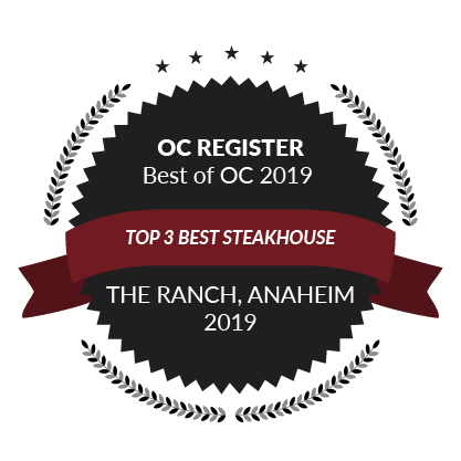 OC Register Best of OC 2019, Top 3 Best Steakhouse, 2019