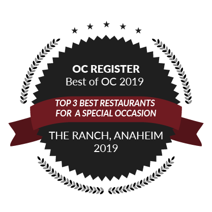 OC Register Best of OC 2019, Top 3 Best Restaurant for a Special Occasion, 2019