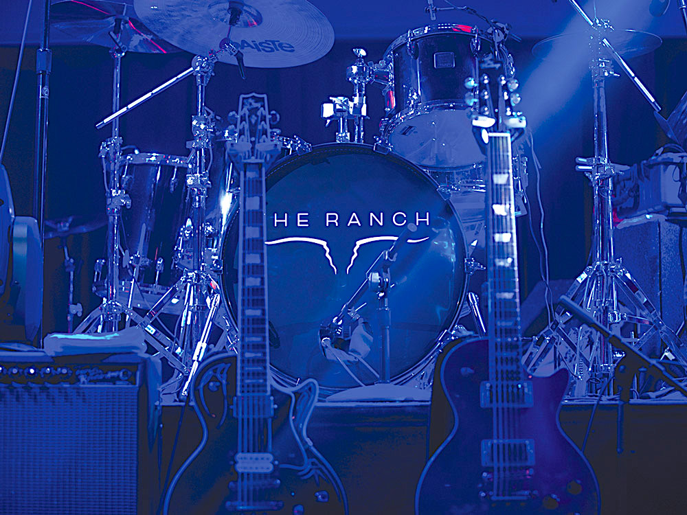 Concert stage with production-quality sound for live performances of top country music stars and favorite local bands.